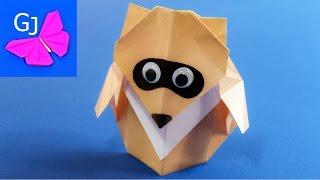 Оригами из бумаги Eнот