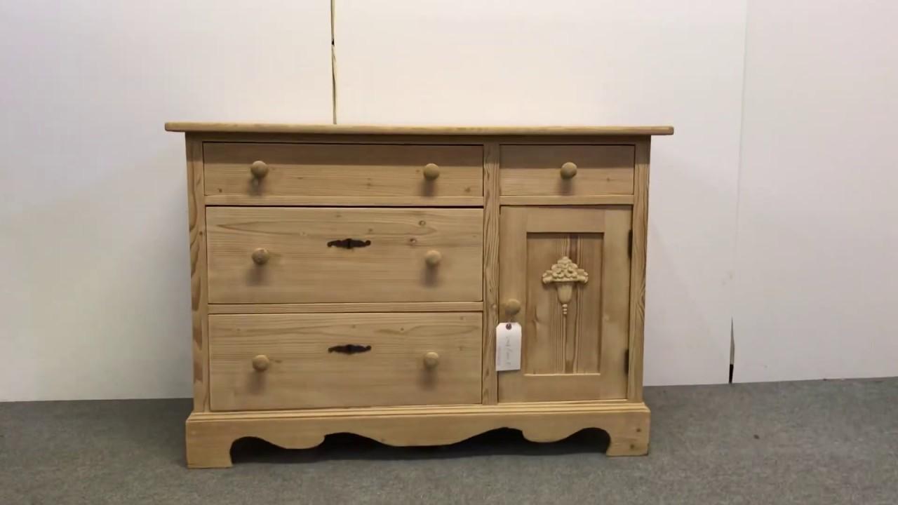Small Antique Pine Bedroom Unit