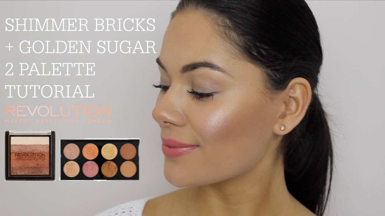New makeup revolution shimmer bricks golden sugar 2 palette new makeup revolution shimmer bricks golden sugar 2 palette youtube ccuart Images