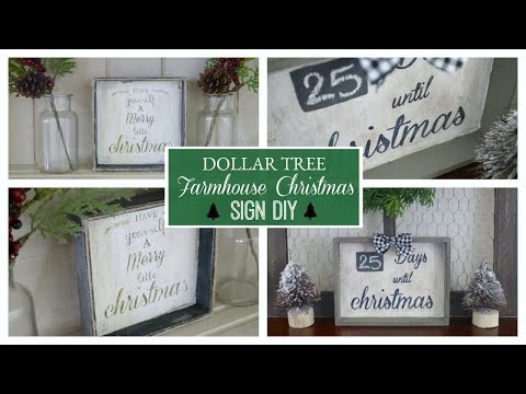 DIY DOLLAR TREE FARMHOUSE CHRISTMAS DECOR 2019