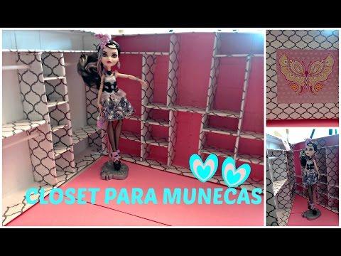 Como Hacer un Closet para Muñecas - Ever After High - Monsterr ...