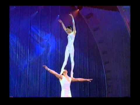 Ballet dancing on the head & shoulders