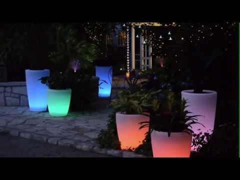 Solar Illuminated Planters