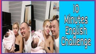 Ethel booba vlog#34 10 minutes english challenge thumbnail