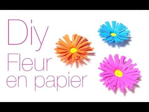 D i y comment faire une fleur en papier doovi - Comment faire une fleur en elastique ...
