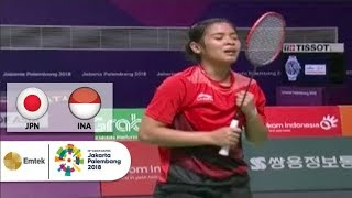 JPN vs INA - Semi Final Badminton Beregu Putri - Full Highlight | Asian Games 2018