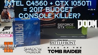 Intel G4560 + GTX 1050 Ti  - 1080p Ultra Gaming Benchmarks - 7 Games Tested
