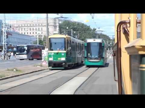 Riding with a old finnish tram @ Helsinki, Finland !