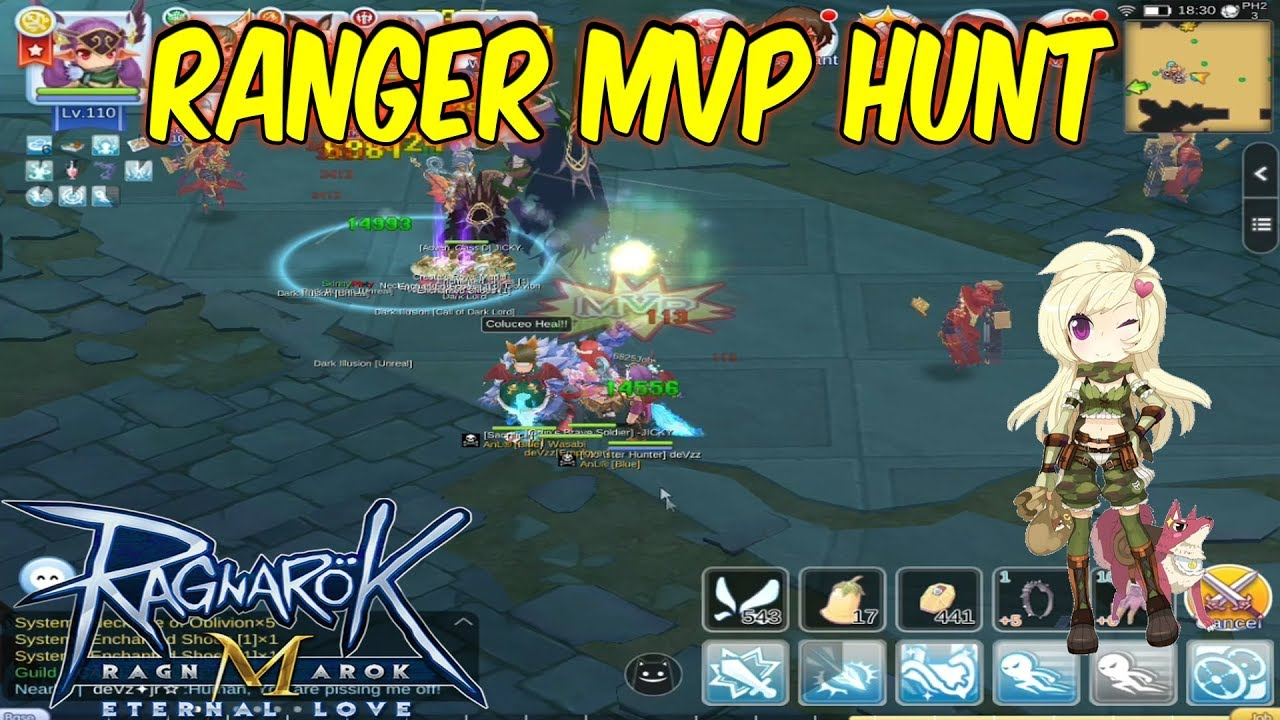 Ranger MVP Hunt Gameplay | Ragnarok Mobile Eternal Love ...