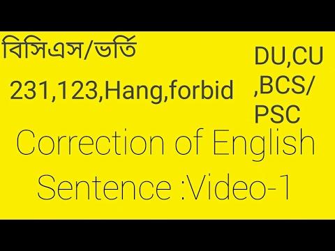 BCS:Correction  of English Sentence-1