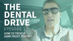 How To Treat A DARK Front Tooth - EP 01 The Dental Drive