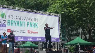 "Tyrone Davis Jr. Sings ""Never Getting Rid of Me"" at Broadway In Bryant Park"