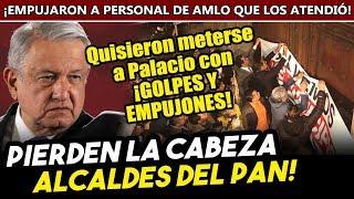 Pierden la cabeza alcaldes del PAN ¡POR LA LANA! Con ęmpųjonęs quisieron entrar a Palacio Nacional