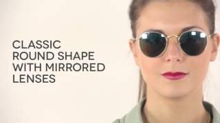 Ray-Ban RB3447 Round Flash Lenses Polarized Sunglasses | VisionDirectAU