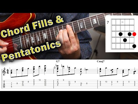 Chord Fills and a Great Pentatonic Trick on the Guitar
