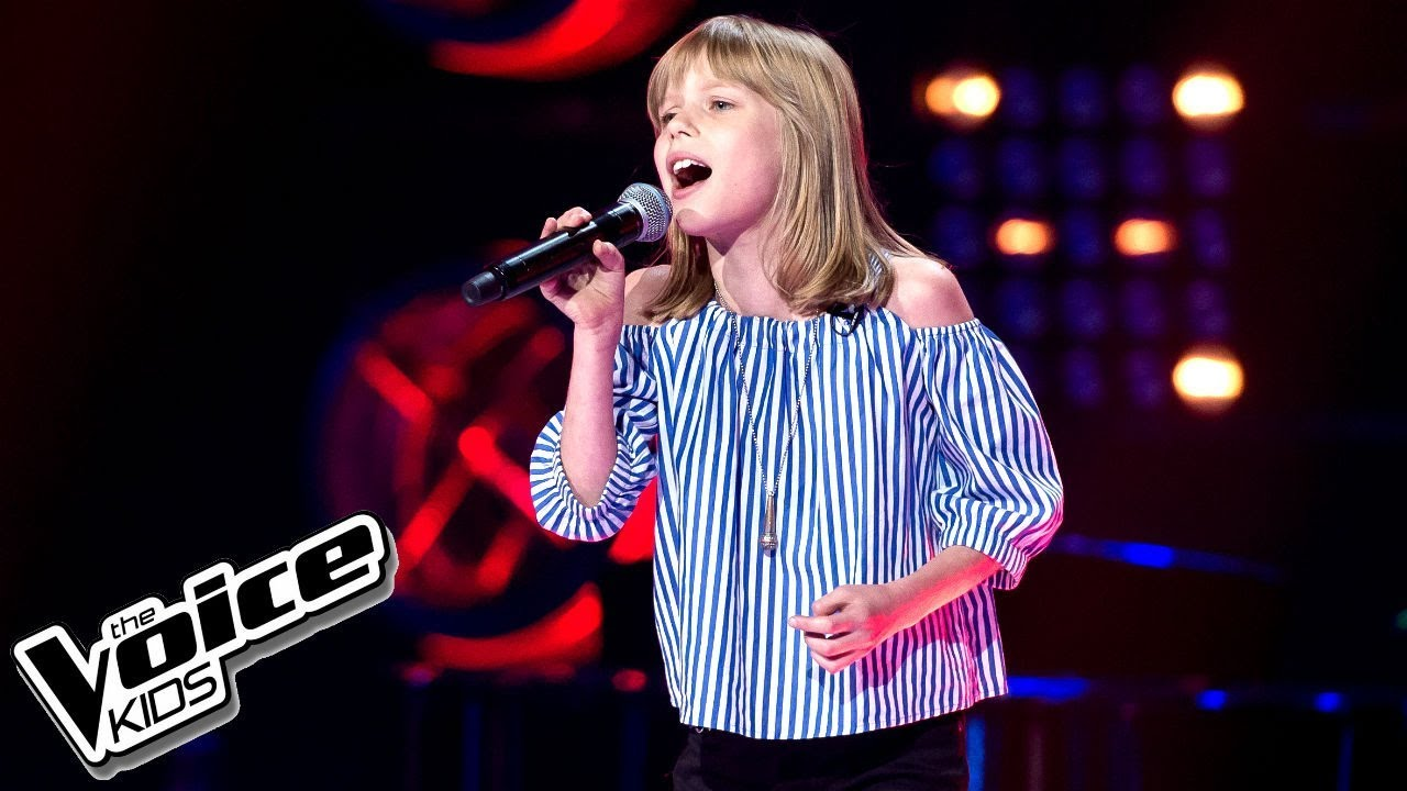 Lena Marzec -  U0026quot Nobody U0026 39 S Perfect U0026quot  - Przes U0142uchania W Ciemno - The Voice Kids 2 Poland