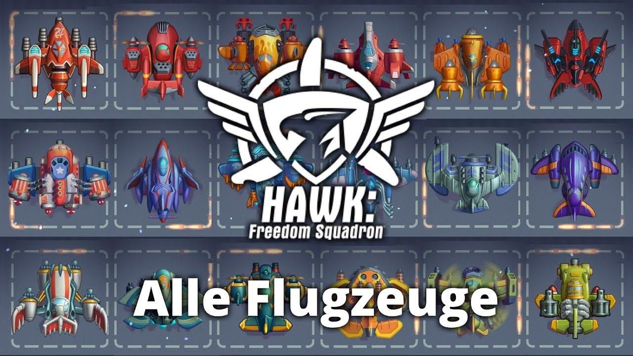 Alle 21 Flugzeuge - HAWK: Freedom Squadron (V 1.9.1) - YouTube
