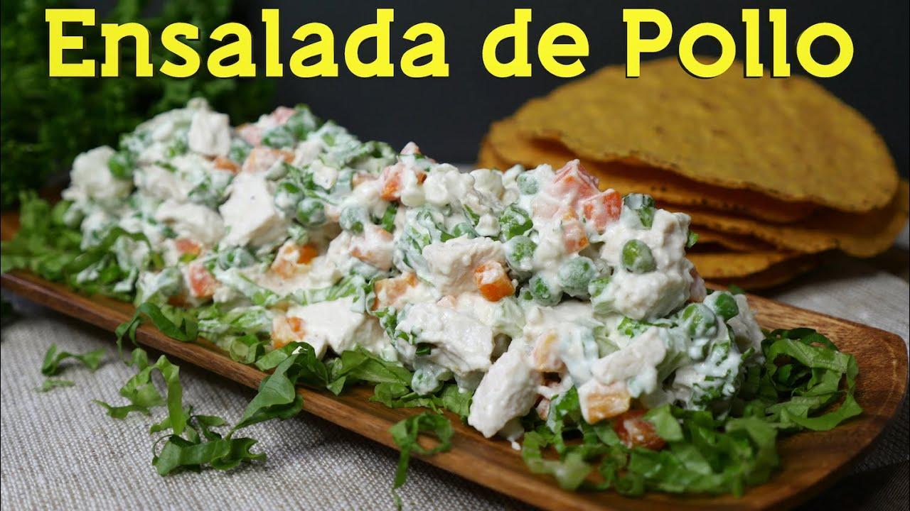 Receta de ensalada de pollo s per sencilla y deliciosa for Cocina rapida y sencilla