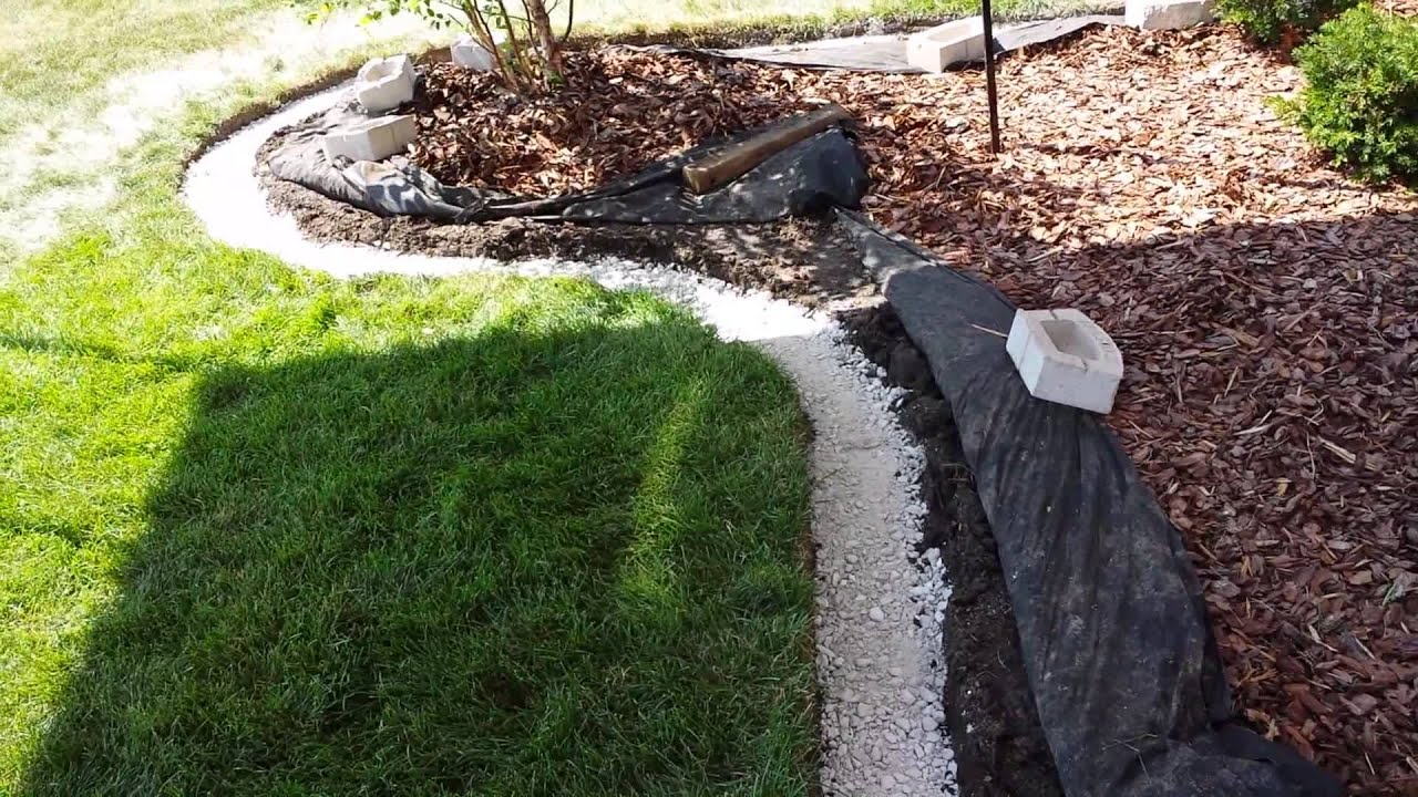 how to add landscape edging block to your landscaping youtube