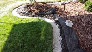 How to add landscape edging block to your landscaping.