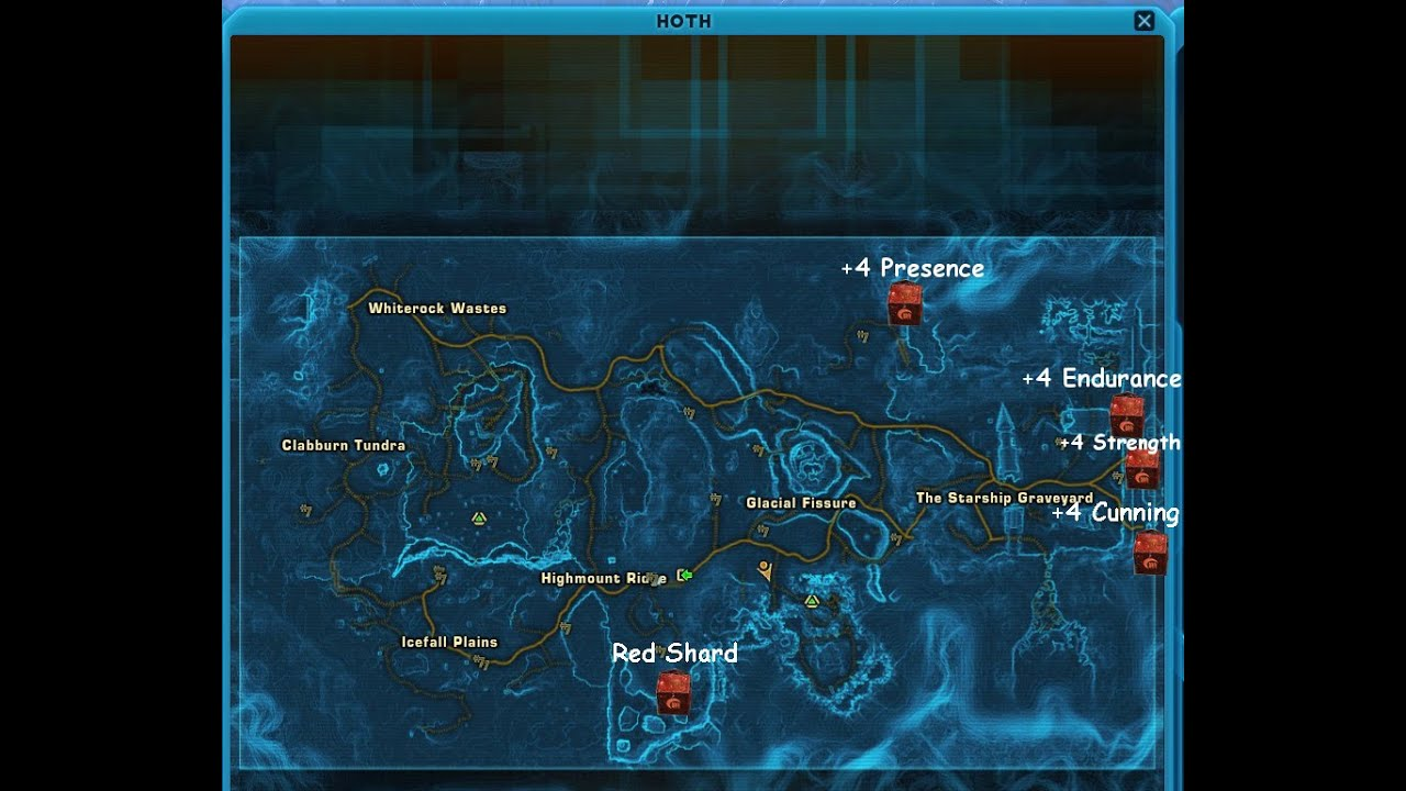 swtor hoth datacrons youtube, wiring diagram, icefall plains location world map hoth