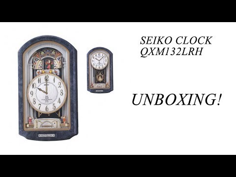 Seiko Melodies in Motion Clock QXM132LRH UNBOXING!