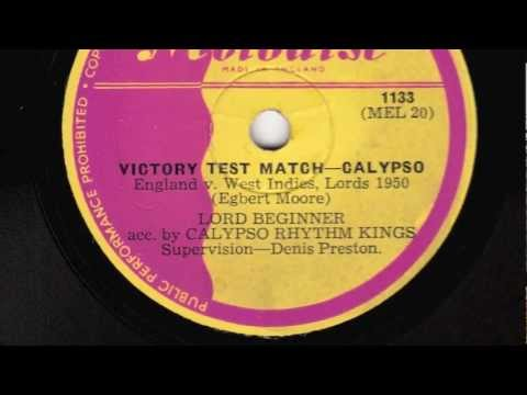 Victory Test Match [10 inch] - Lord Beginner acc. by Calypso Rhythm Kings