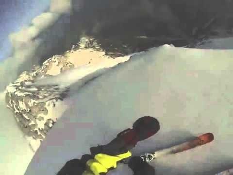 Самый опасный спуск на лыжах от первого лица в HD качестве - Видео онлайн