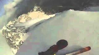 Самый опасный спуск на лыжах от первого лица в HD качестве