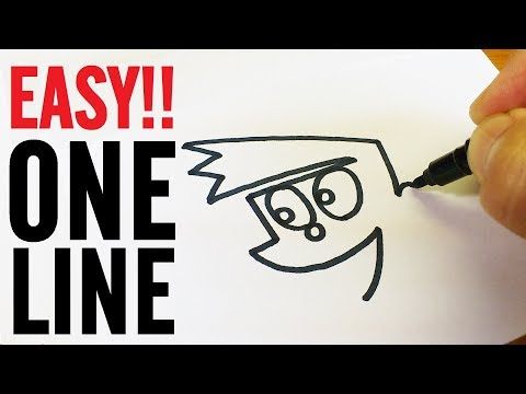 ONE LINE ART CHALLENGE !!Easy 5 one line drawings tutorial by PINKORO
