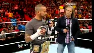 Raw 10th September - Bret Hart And CM Punk Discuss What Would Of Happened If They Faced Each Other