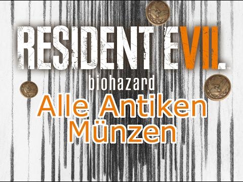 Resident Evil 7 Alle Antiken Münzen Youtube
