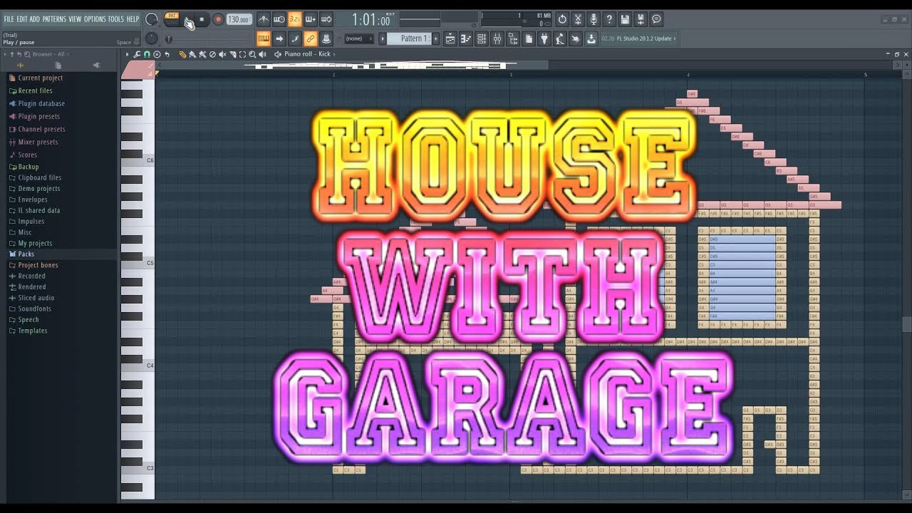 What House With Garage Sounds Like - MIDI Art