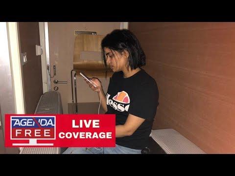 Saudi Woman Barricaded  to Avoid Return Home - LIVE COVERAGE