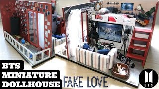 DIY Miniature Dollhouse (Fake Love Theme)