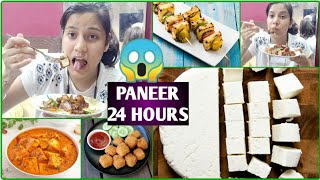 😫I Ate Paneer For 24 HOURS 😱 Challenge Part 2 |🇮🇳 Trending Food Challenge | Plum Skin Care Routine