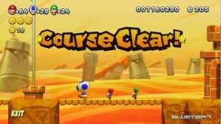 New Super Mario Bros. U - (co-op) Layer-cake Desert-4 | Spike's Spouting Sands Star Coins