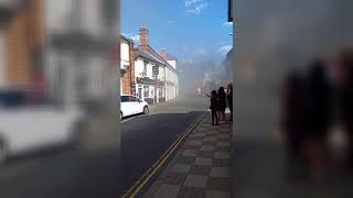 Fire in central North Walsham