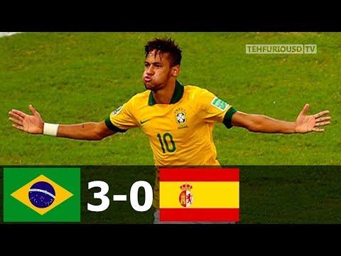 🔥 Бразилия - Испания 3-0 - Обзор Матча Финала Кубка Конфедераций 01/07/2013 HD 🔥