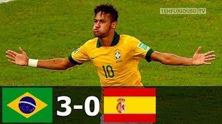бразилия - Испания 3-0 - Обзор Матча Финала Кубка Конфедераций 01/07/2013 HD
