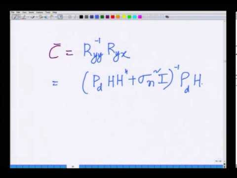 Mod-01 Lec-22 MIMO MMSE Receiver and Introduction to SVD