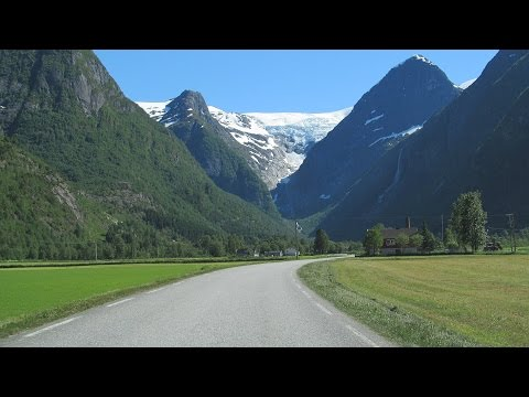 Norway: the road from Olden to Jostedal Glacier