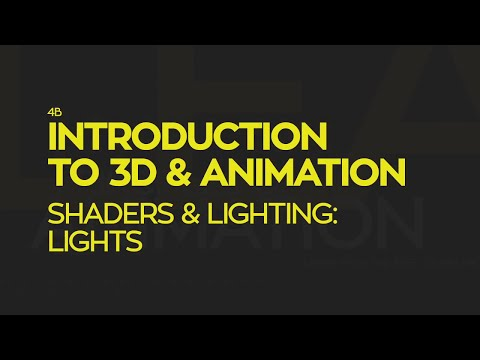 Introduction To 3D and Animation: Shaders & Lighting - Lights