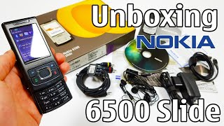 nokia 6500 Slide Black Unboxing 4K with all original accessories RM-240 review