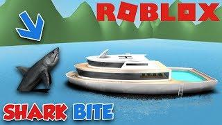 GIANT SHARK CRASHED MY $1,000,000 DOLLARS YACHT (ROBLOX SHARKBITE)