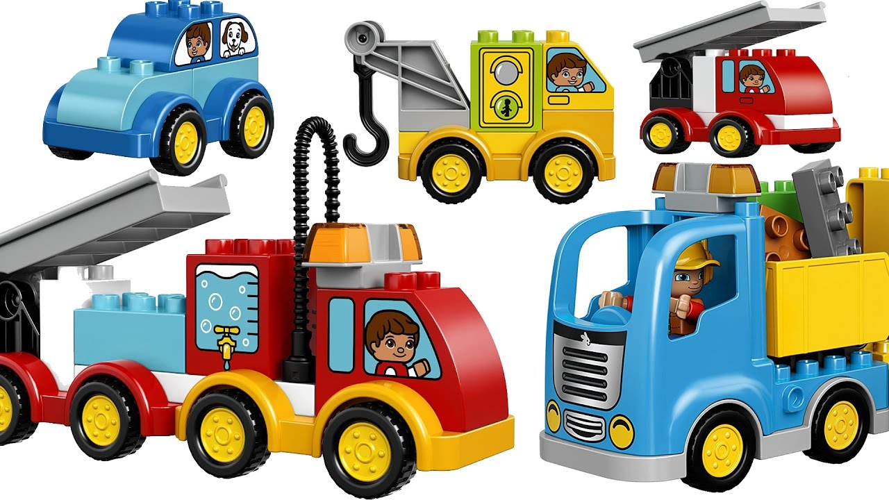 Learning Cars Trucks Vehicles For Kids With Building