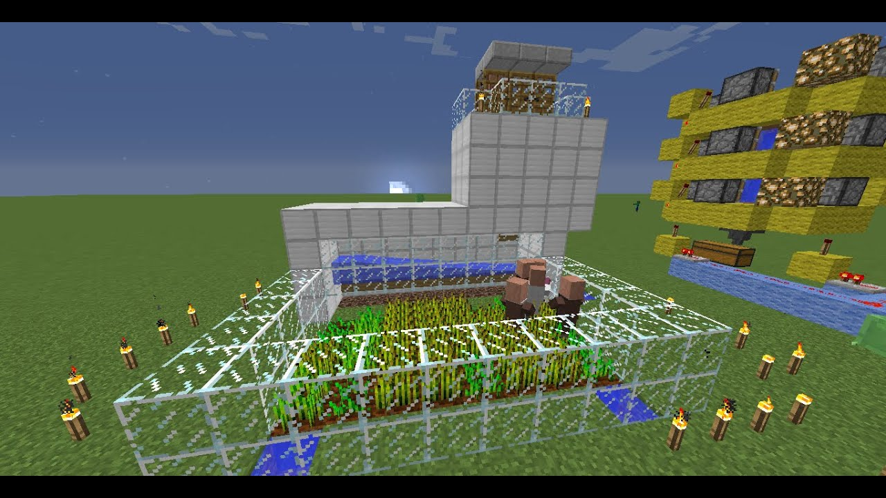 Майнкрафт как сделать ферму жителей