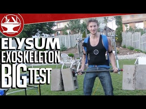 Make it Real: Elysium Exoskeleton -- the Big Test, 170LB Barbell Curl (Part 16)