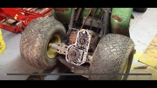 John Deere 185 Hydro jammed transmission fix