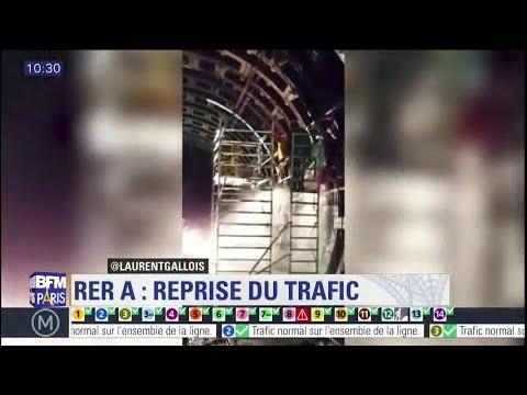 Les images de la brèche qui a conduit à l'arrêt du #RERA
